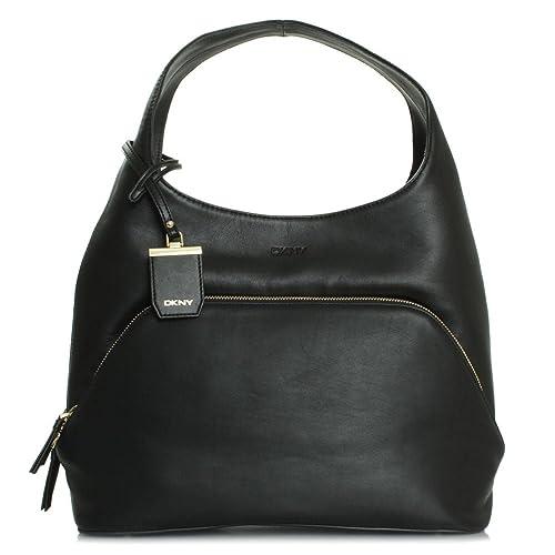 DKNY Chloe Negro Bolso Hobo Black Leather  Amazon.es  Zapatos y complementos d98d4aa1613e