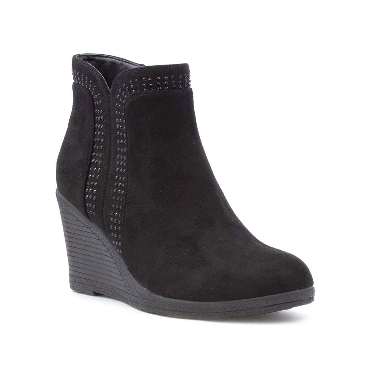 images Lilley Womens Black Buckle Detail Ankle Boot-18640 modern collection