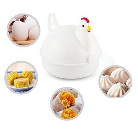 Sevenfly - Cocina para huevos en forma de pollo para microondas, 4 ...