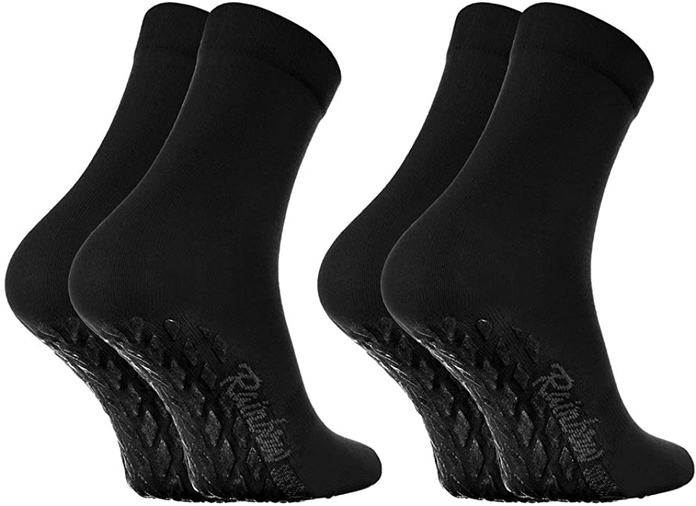 Damen Herren Bunte Baumwolle Antirutsch Socken ABS Rainbow Socks