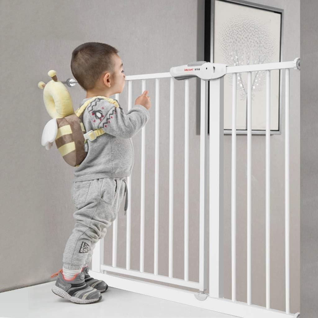 Huo Barrera De Seguridad Escalera, Puerta De Seguridad para Bebé Barandilla para Niños Barandilla De Balcón Soporte De Pared Ajustable (Size : Width 102-110cm): Amazon.es: Hogar