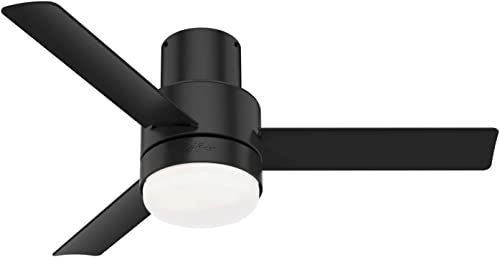 Hunter Fan Company 51333 Gilmour Ceiling Fan, 44, Matte Black