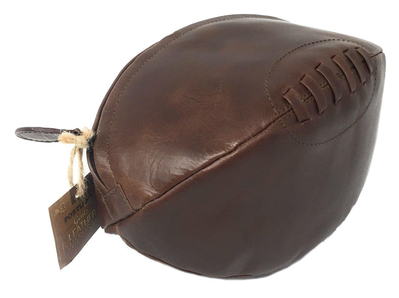 1e09a6bd6 Bolso Neceser de Cuero con Forma de Balón de Rugby: Amazon.es: Equipaje