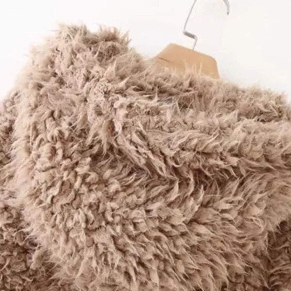 Kangma Womens Ladies Warm Artificial Wool Coat Jacket Lapel Winter Outerwear
