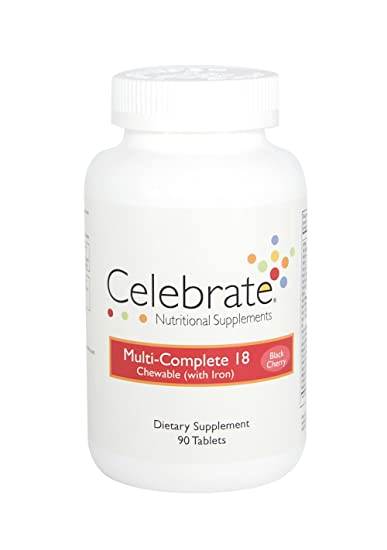 Celebrate Multi-Complete 18 Chewable with Iron - Black Cherry - 90 Count