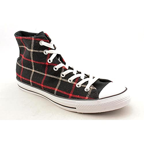 Converse Unisex Chuck Taylor As Plaid Hi Lace up in Black