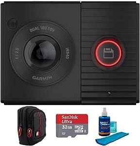 Garmin Dash Cam Tandem Dual-Lens Dash Cam with Deco Gear Accessories Bundle