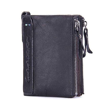 Cartera Bloqueo RFID para Hombre Estilo Plegable Monedero Billetera De PU Cuero Billetera Tarjetero Hombre Carteras