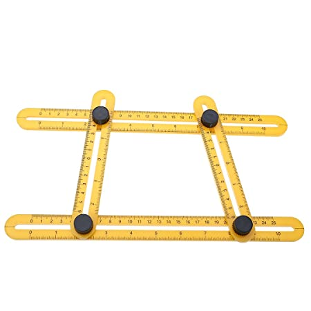 Angle Izer Template Tool Four Sided Ruler Mechanism Slides Measuring