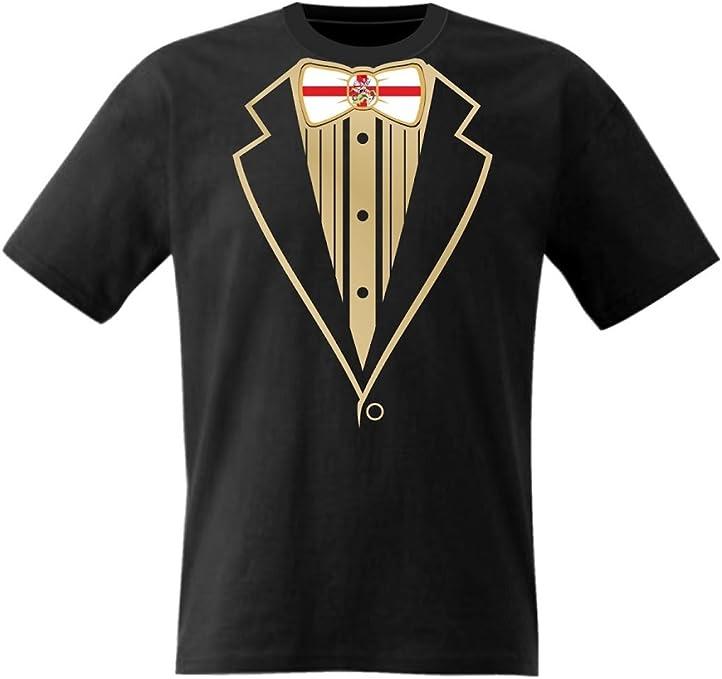 Diseño de esmoquin de T-camisa con adorno en forma de lazo de la bandera británica: Amazon.es: Ropa y accesorios