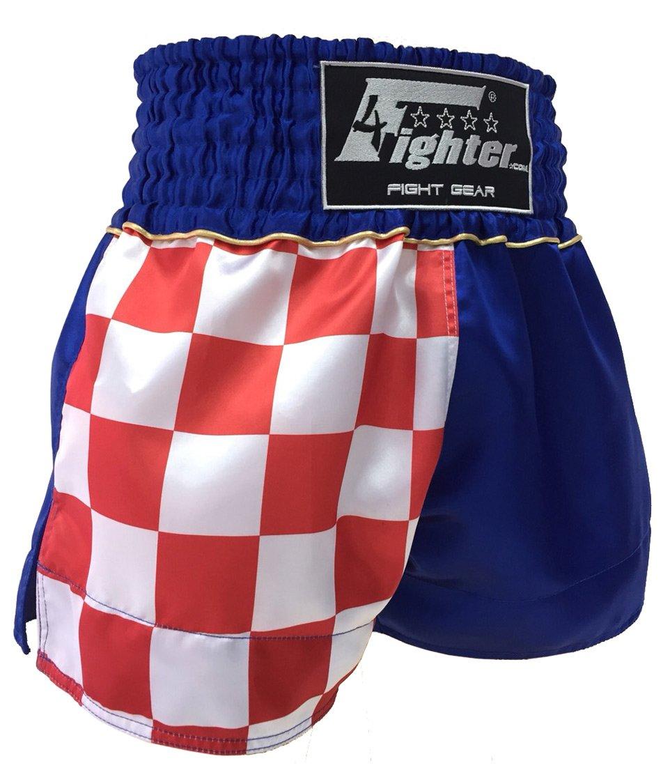 4Fighter Muay Thai Shorts National Kroatien mit Hrvatska Schriftzug und Flagge