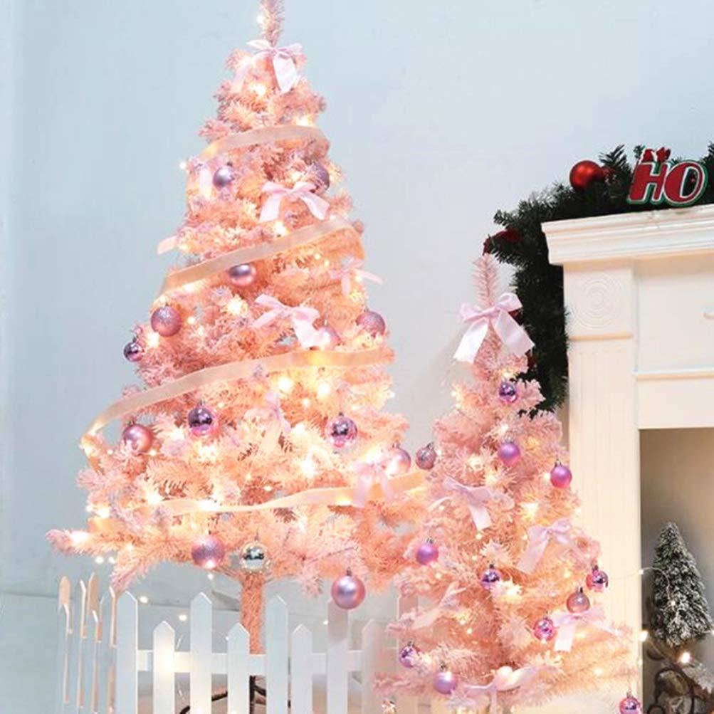 Amosfun /Árbol de Navidad Rosa /Árbol de Navidad Artificial Decoraci/ón del hogar de Vacaciones Lindo /árbol Flocado Decoraci/ón de Navidad 60cm /Árbol de Cedro Rosa