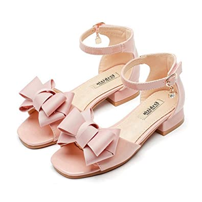 Girls Sommer Sandalen Bowknot Offene Zehe Little Heel Princess Dress Shoes (Kleinkind/Little Kid/Big Kid) M33DPZ