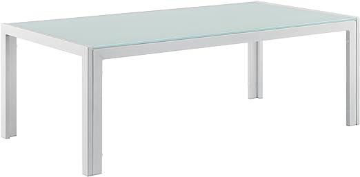 casa.pro]® Mesa de centro de vidrio 100 x 50 x 35 cm mesa de ...