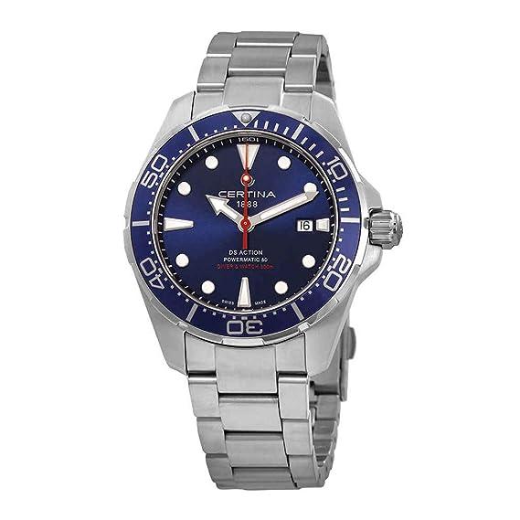 Certina DS Action Diver Reloj de hombre automático 43mm C032.407.11.041.00: Amazon.es: Relojes