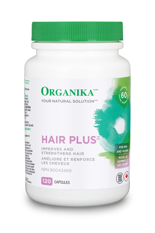 Organika Hair Plus, 120 caps Organika Health Products 1275