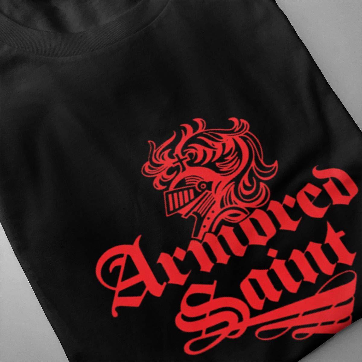 Lerzincser Men Armored Saint Classic Walk T-Shirts