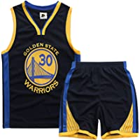 FUNBS Traje de Baloncesto para niños, Durant Curry Jordan Irving James Harden Thompson Camiseta de Baloncesto Estadounidense Miami New York Chicago, Traje Deportivo