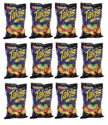 BARCEL TAKIS FUEGO CORN SNACK - HOT CHILI PEPPER & LIME by Barcel