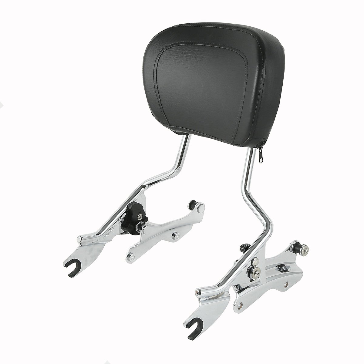 XFMT Chrome 4 Point Docking Kit Backrest Sissy Bar + Pad For Harley Touring 2014-2018