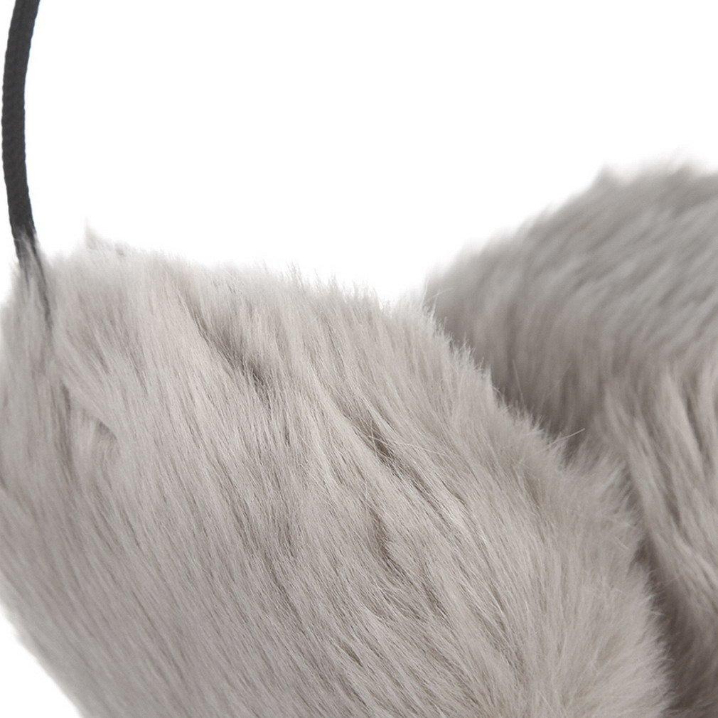 cbf1c96dd74c2d Amazon | (ラボーグ)La Vogue ふわふわ レディース 耳カバー イヤーウォーマー イヤーマフ フェイクファー 耳あて メンズ 防寒グッズ  通勤 通学 アウトドア グレー ...