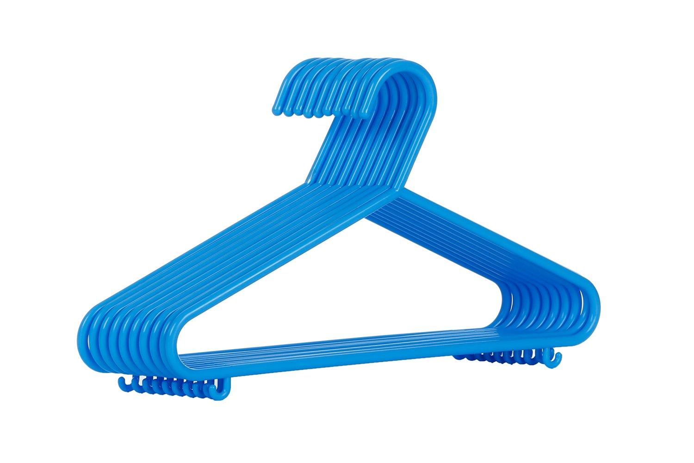 AzxecVcer Kids Plastic Hangers Nursery Hangers With Hooks For Baby, Toddler, Kids, Children (30, Blue)