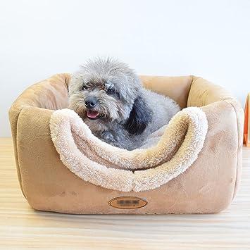 Xi Man Shop Cama para Perro pequeñaCojines cálidos Casa de Perro de gamuzaCon Techo Desmontable Villa de Mascotas 40 * 40 * 40CM/6KG: Amazon.es: Hogar