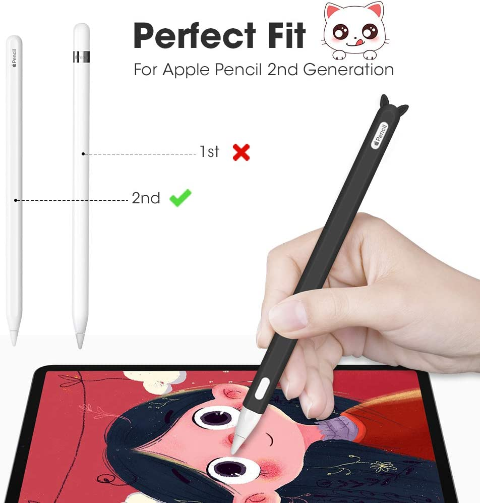 Matita morbida in Silicone Apple Cap Caso Holder protettiva antiurto per iPad Penna
