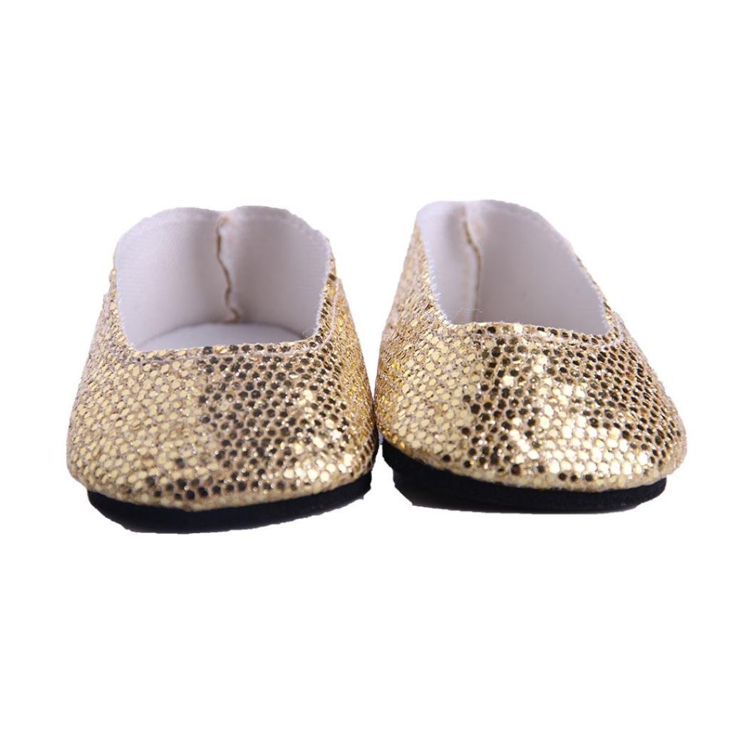 Glitter Doll Shoes Dress Shoe For 18 Inch Our Generation American Doll