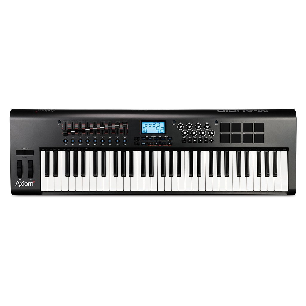M-Audio Axiom 61 61-Key USB MIDI Keyboard Controller with Semi-Weighted Keys and Assignable Control Surface by M-Audio