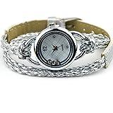 Uhr Armbanduhr Armband Armreif Glücksbringer Strass Damenuhr Silbrig