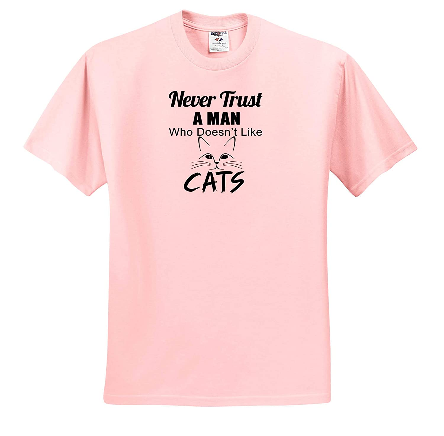Adult T-Shirt XL Never Trust A Man Who Doesnt Like Cats ts/_319251 3dRose Anne Marie Baugh Quotes and Sayings