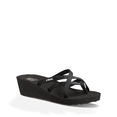 4266549a9f79 Teva Women s Mush Mandalyn Wedge Ola 2 Sandal - Black - 6