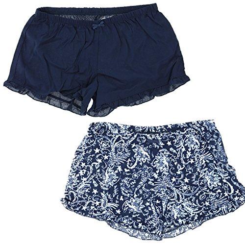 - Marilyn Monroe Intimates Women's Sleepwear Pajama Shorts (2 Pair) (Large, Navy Blue)