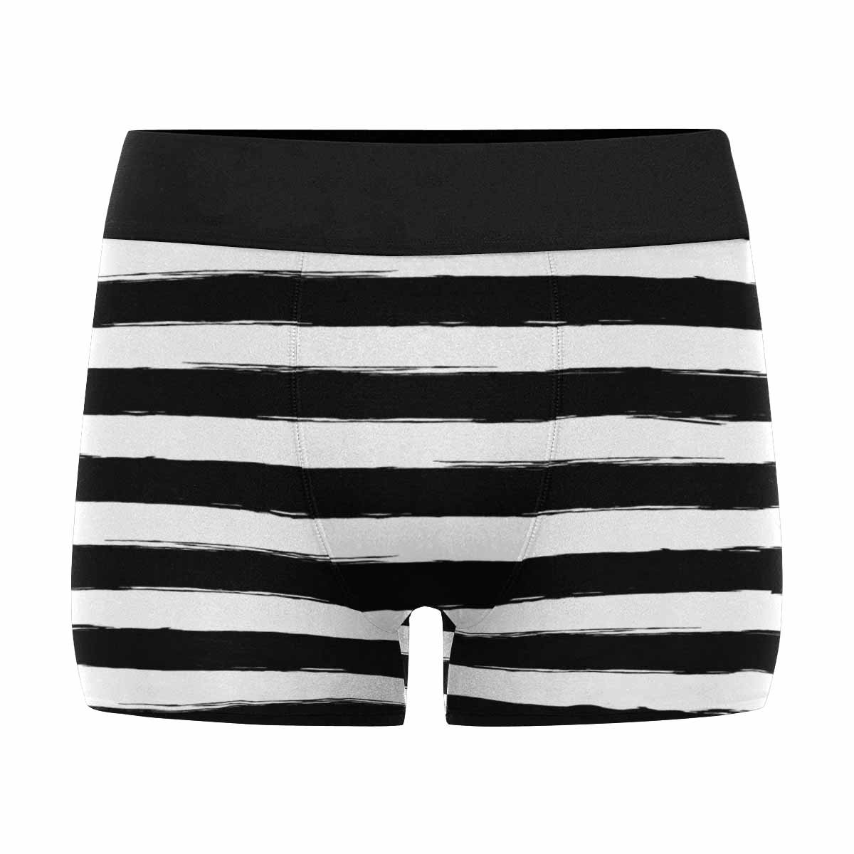 XS-3XL INTERESTPRINT Custom Mens All-Over Print Boxer Briefs Abstract Black and White Brush Strokes