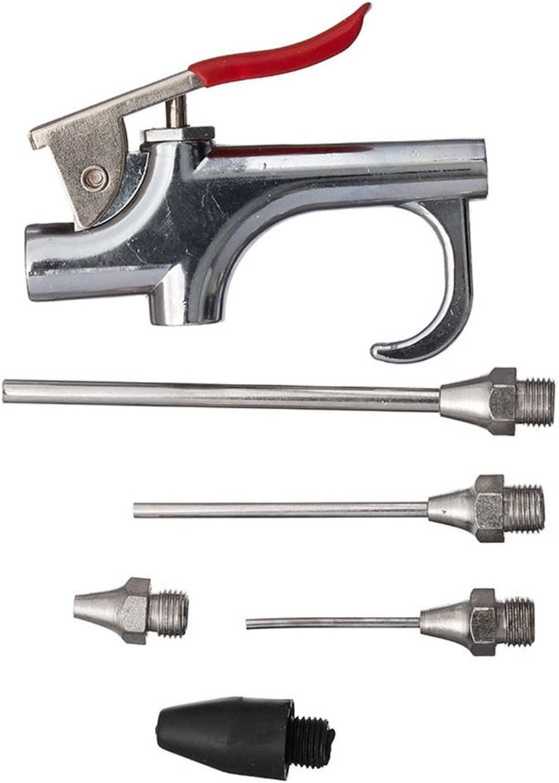 MASUNN 5Pcs Conjunto De Aire Compresor Soplador Pistola Kit De Inflado De Aguja Soplador Spray