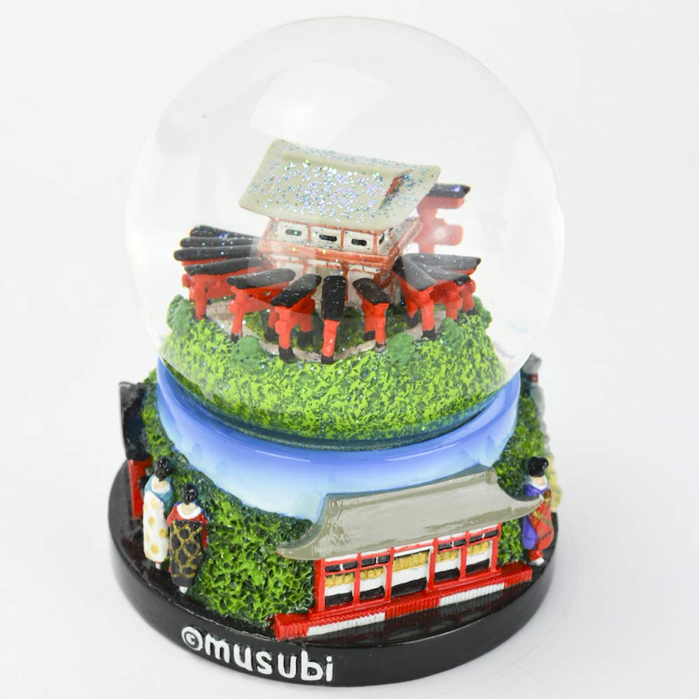 Musubi - Snow Globe Glitter SK0027 (Kyoto Summer), 3.5'' Tall by musubi Kyoto (Image #2)