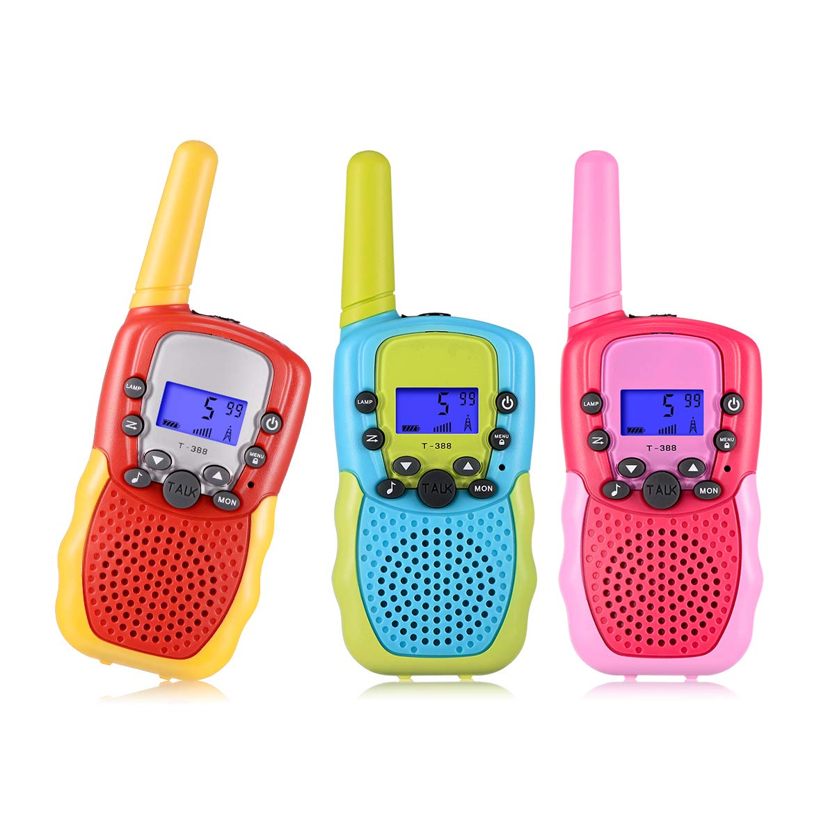 SnowCinda 3 Pack Walkie Talkies for Kids , 22 Channels 2 Way Radio Toy with Backlit LCD Flashlight, 3 Miles Range for Outside Adventures, Camping, Hiking, Toys for 3-12 Years Old Boys or Girls
