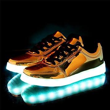 Graffiti LED-helle Schuhe Sommer- und Herbstart und weise beiläufige Schuhe sieben Farben ändern elf Arten des blinkenden Modus , Black , 36