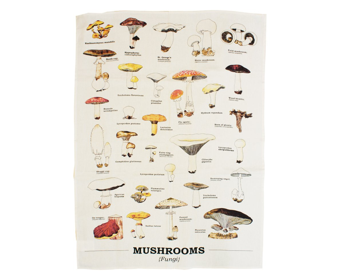 Gift Republic GR270033 Mushrooms Tea-Towels