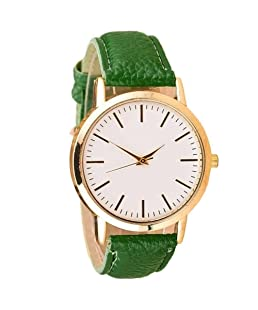 Dxlta Simple Women Ladies Watches with PU Leather Band Analog Quartz Wrist Watch Fashion Hot Sale 9 Colors