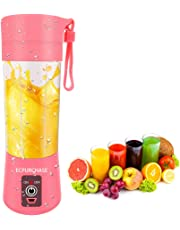 Portable Blender USB Rechargeable, Personal Blender Single Serve Blender, Small Blender Shakes Travel Blender Cup 400ml (FDA and BPA free)