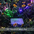 GDEALER 8 Modes String Lights 33ft 100LED Copper Wire Fairy Starry String Lights Battery Powered with Remote Control for Outdoor, Indoor, Christmas Waterproof multi color(Battery NOT INCLUDED) (1)