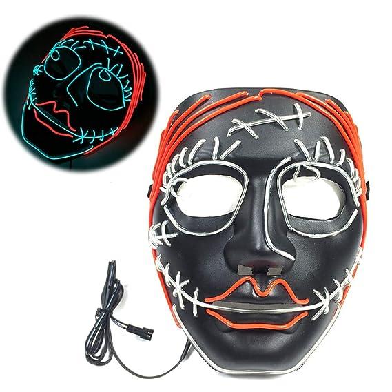 RG-FA Disfraz de Halloween Divertida Máscara LED Purga Wire DJ ...