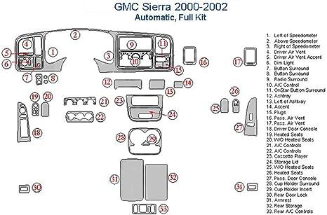 Birds Eye Maple GMC Sierra Full Dash Trim Kit 4 Doors