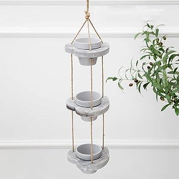 WENZHE Gefälschte Pflanze Künstliche Blumen Heimzubehör Hängend Porzellan  Blumentopf Handarbeit Mini Modelle Wohnzimmer Balkon Ländlich
