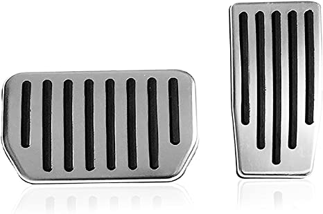 Auto Aluminum Pedal Covers Compatible Model 3 Car Antislip Gas /& Brake Pedals Foot Pedal Pads LMZX A Set of 2