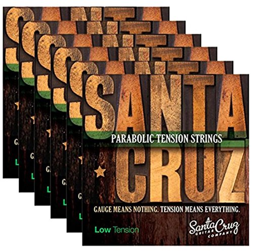 Ten Guitar String (Santa Cruz Parabolic Tension Acoustic Guitar Strings Low Ten (6 Pack))