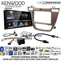Volunteer Audio Kenwood DDX9704S Double Din Radio Install Kit with Apple Carplay Android Auto Fits 2011-2013 Buick Regal (Brown)
