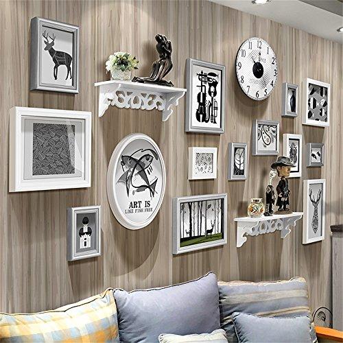 Amazonde HOME UK Europische Fotowand Wohnzimmer Kreative Persnlichkeit Regal Fotorahmen Wand